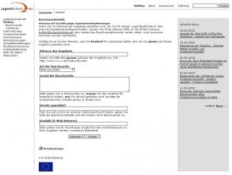 Meldeformular von Jugendschutz.net