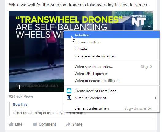 Erweiterte Funktionen im Native-Video-Player von Facebook