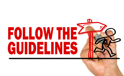 follow the guidelines concept hand drawing  by shutterstock.com