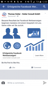 Lead Ads Werbeanzeige auf dem Smart Phone