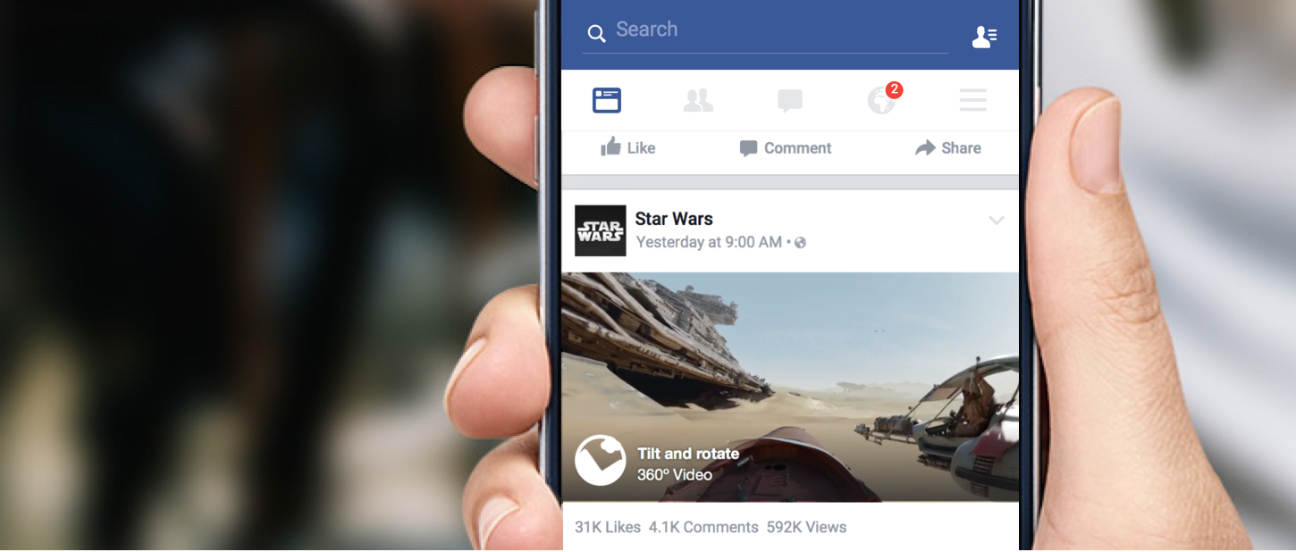 360 Video im News Feed (Quelle: Facebook)