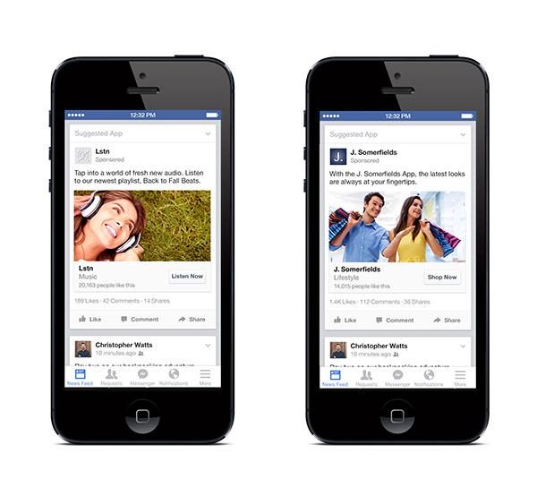 Mobile App Engagement Ads. Quelle Facebook