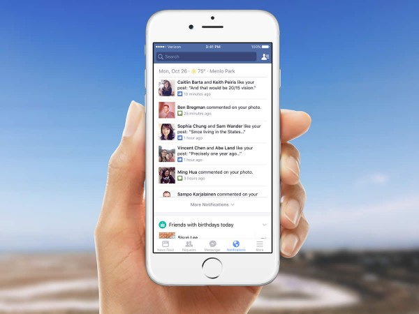 Facebook Notifications Tab (Quelle: Facebook)