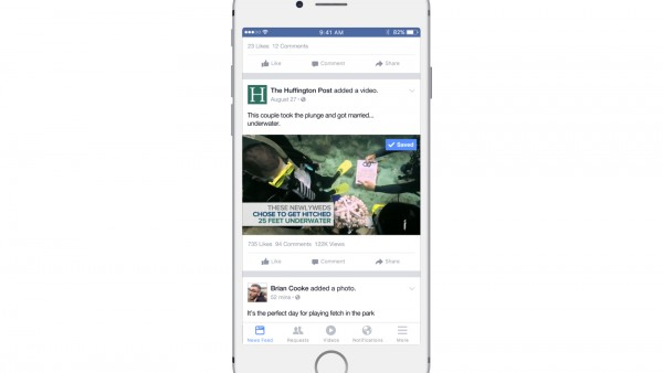 Saved Videos auf Facebook (Quelle: Facebook)