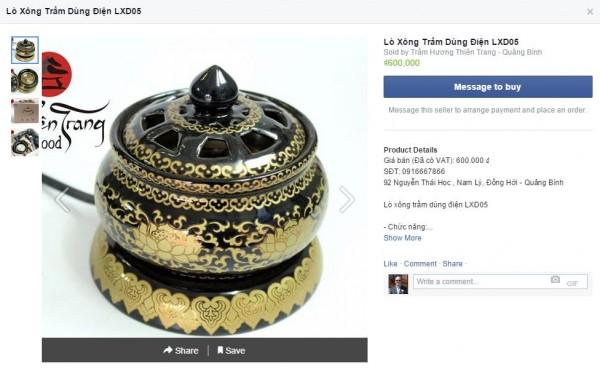 Beispiel einer Facebook Shop Integration - Detailansicht mit mehreren Bildern