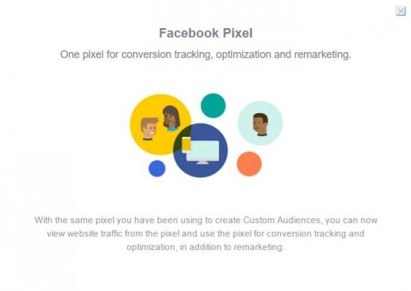 Hinweis auf das Facebook Pixel im Werbeanzeigenmanager