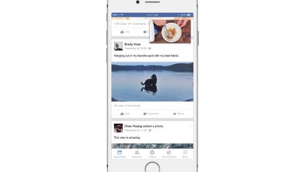 Floating Videos - Multitasking auf Facebook (Quelle: Facebook)