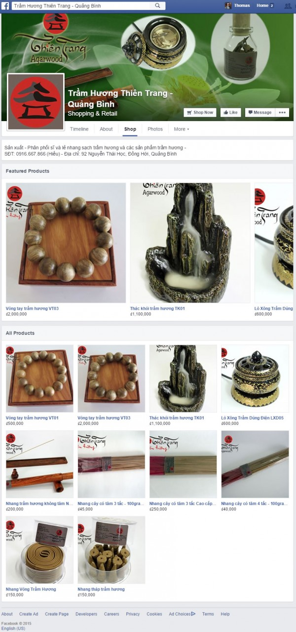 Beispiel einer Facebook Shop Integration