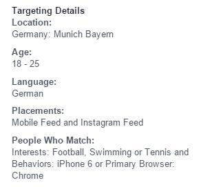 Facebook Targeting nach herkömmlichen ODER-Schema