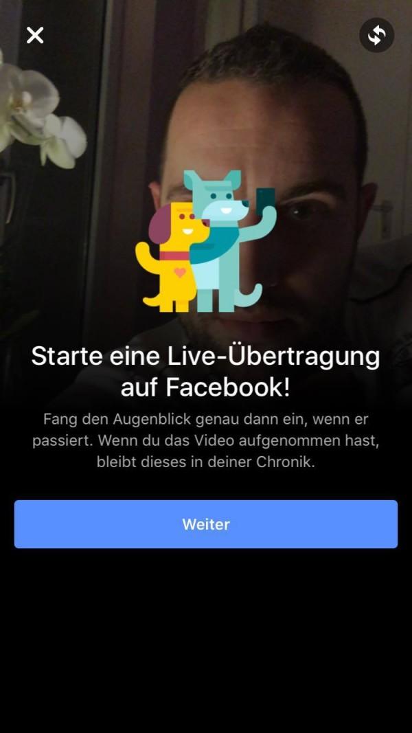 Live Videos für iOS - Schritt 1