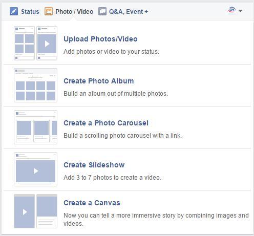 Create a Canvas in der Publisherbox auf Facebook Seiten