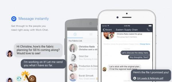 Work Chat in Facebook at Work (Quelle: Facebook)