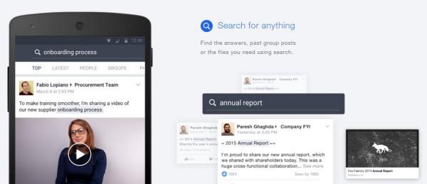 Die Suche in Facebook at Work (Quelle: Facebook)