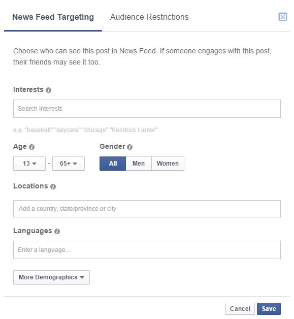 Facebook - Preferred Audience