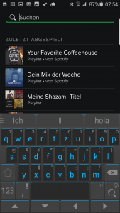 Spotify Integration im Messenger