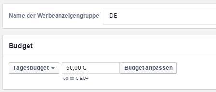 """Funktion """"Budget anpassen"""" im Power Editor"""