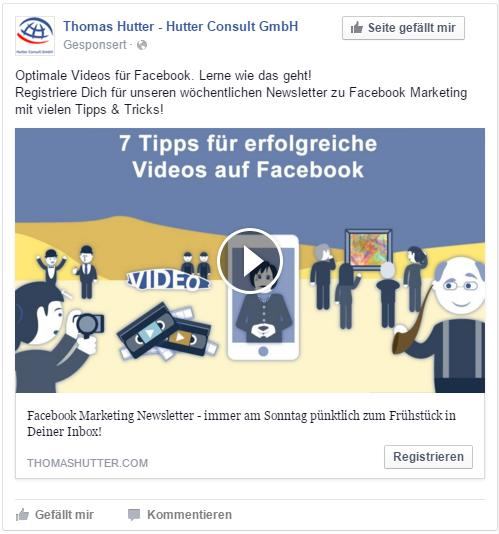 Facebook Lead Ads mit Videointegration