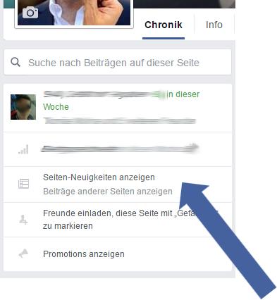 News Feed der Facebook Seite aufrufen