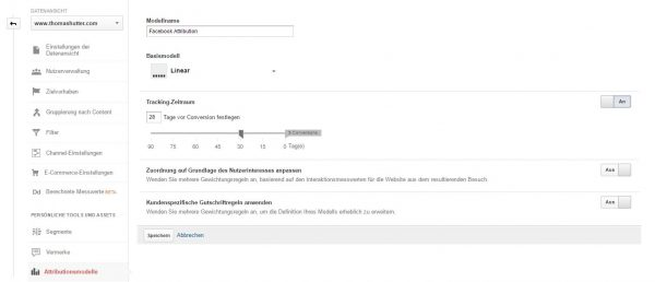 Individuelles Attributionsmodell in Google Analytics