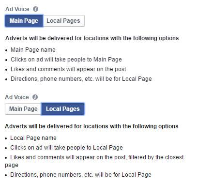 Auswahl des Absenders für die Local Awareness Ads