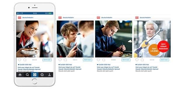 Instagram Carousel Video Ads von der Deutschen Bahn