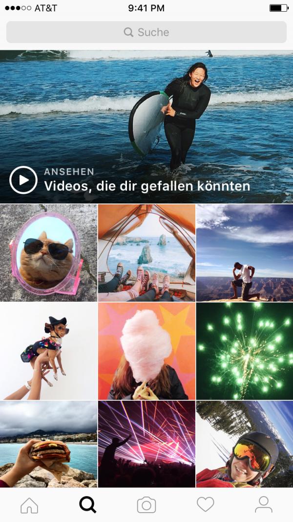 Videos zum Entdecken (Quelle: Instagram)