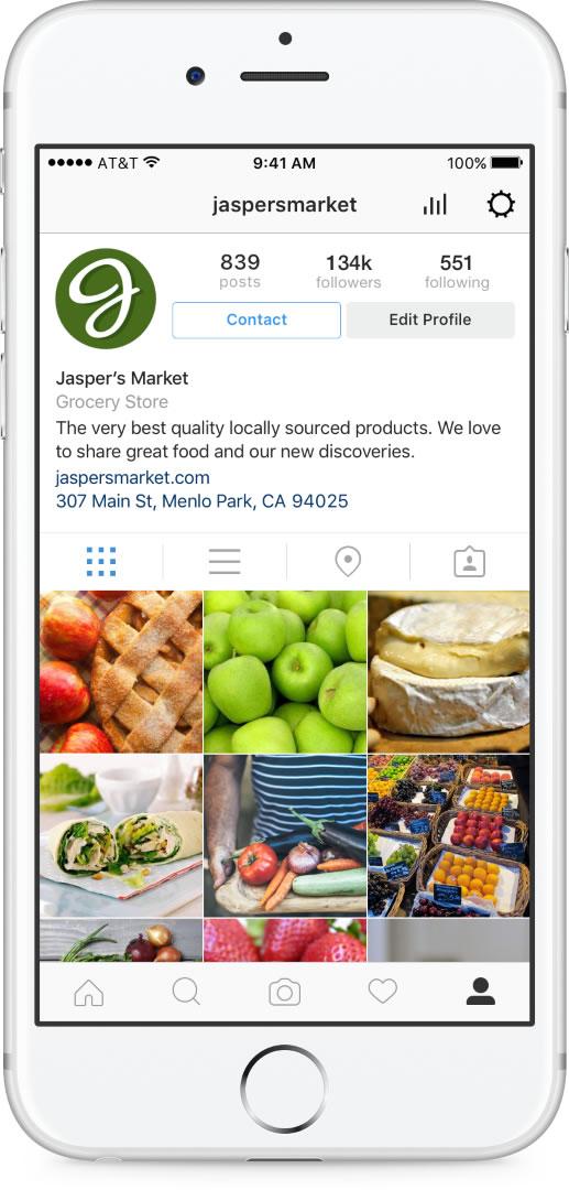 Instagram Business Tools Profile (Quelle: Instagram)