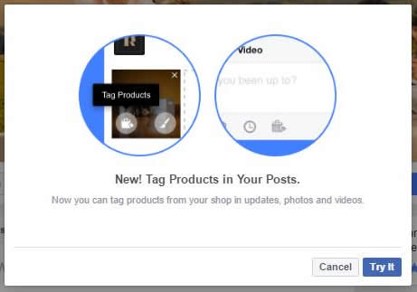 New! Products in Your Posts.