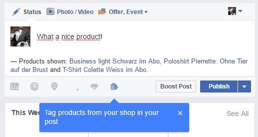 Mehrere für das Markieren ausgewählte Produkte