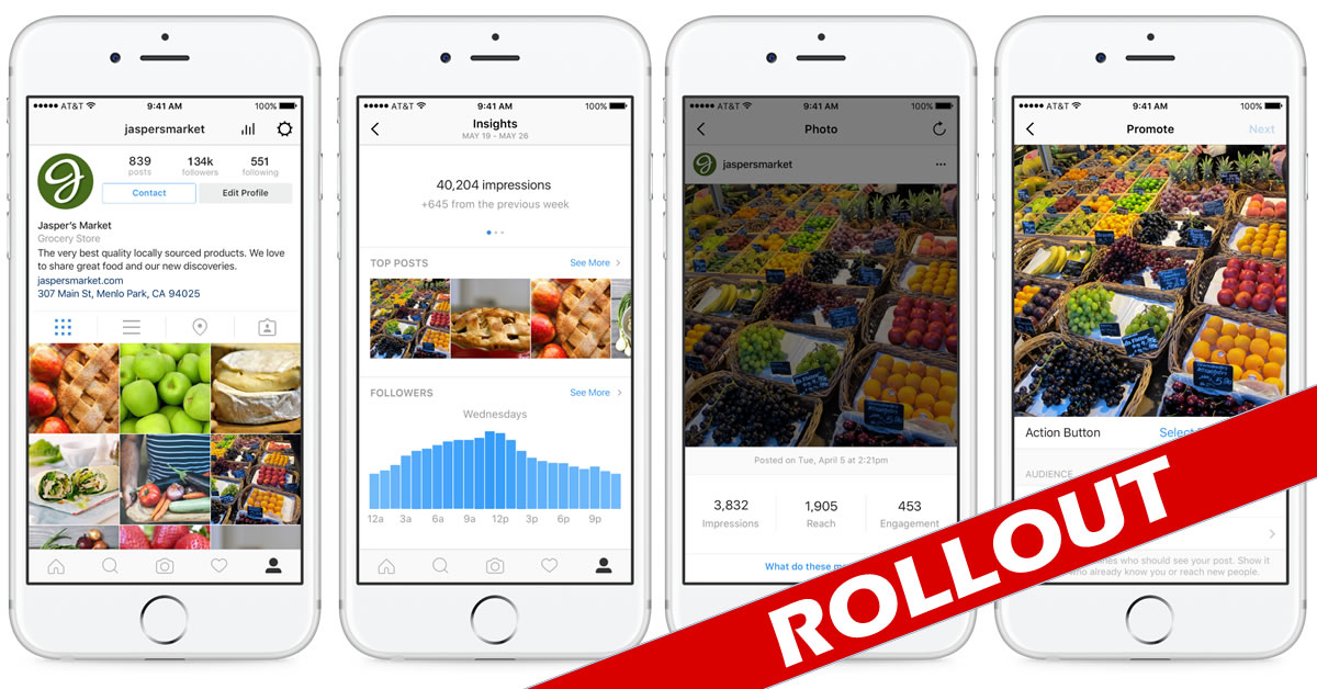 Instagram Business Tools Stats (Quelle: Instagram)