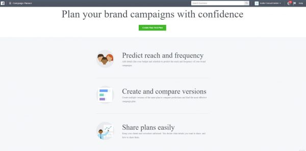 Campaign Planner im Business Manager