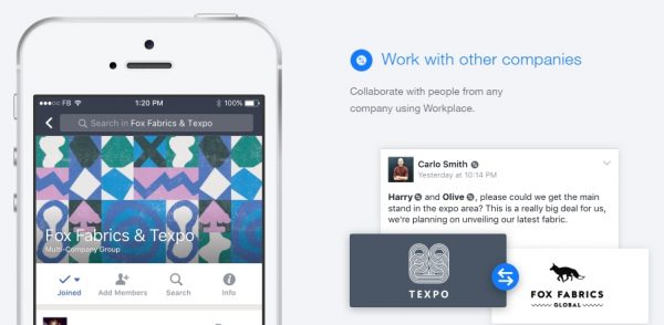 Workplace by Facebook Multi Compnay Groups