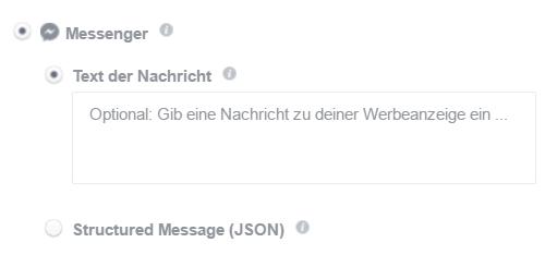 Zielverlinkung Messenger mit Nachrichtenfunktion