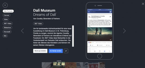 Facebook Creative Hub Ads Beispiele