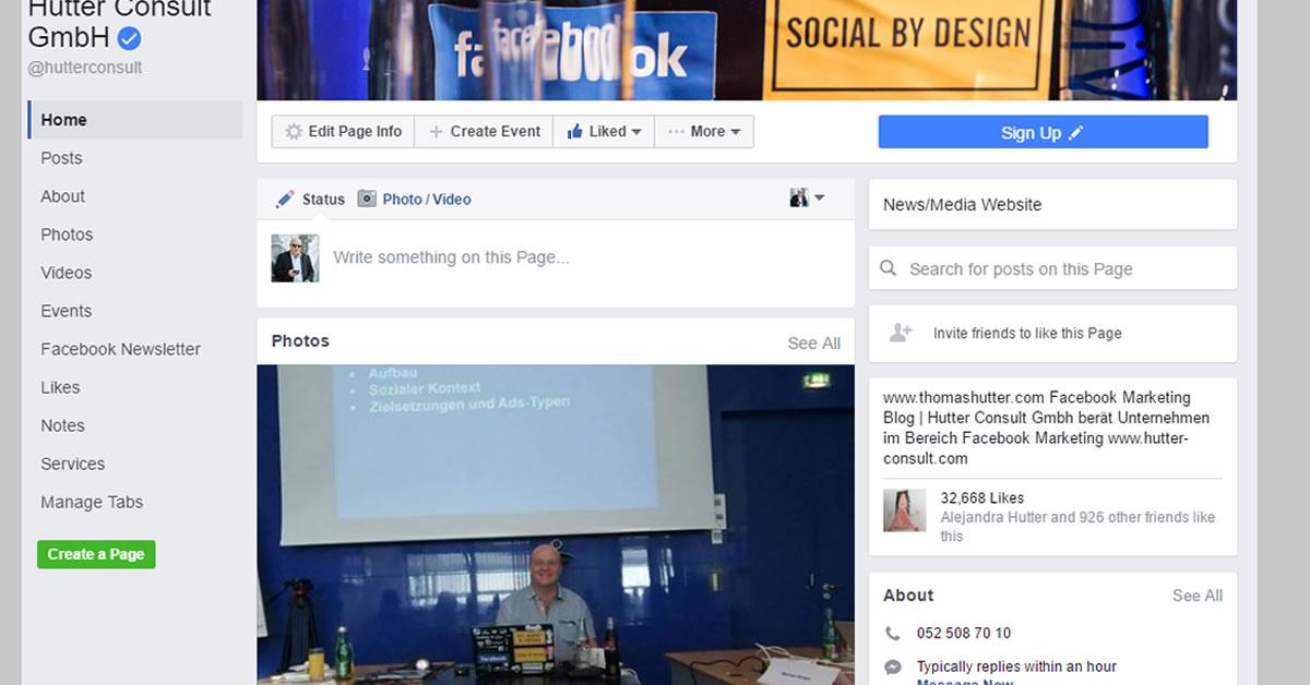 facebook  neues layout in facebook seiten und wie man die