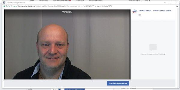 Facebook Live direkt über den Desktop