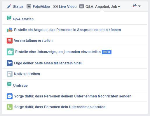 """Facebook - """"alter"""" Publisher auf Facebook Seiten"""