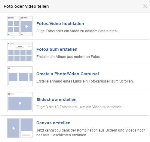Foto oder Video teilen