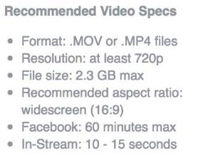 Video-Ads-Spezifikationen