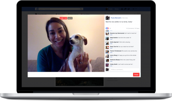 Facebook Live ab PC/Notebook (Quelle: Facebook)