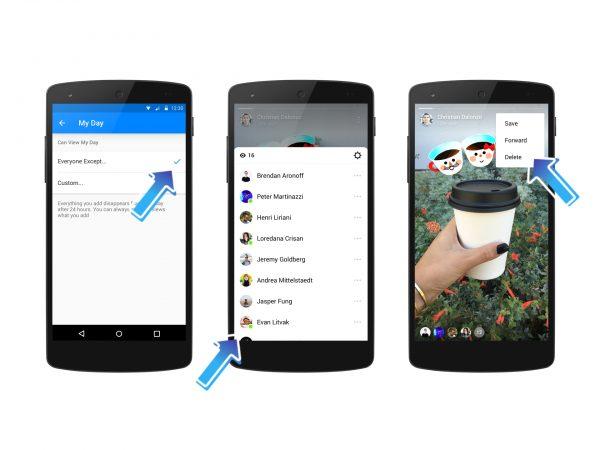 Messenger Day - gezielt mit einzelnen Freunden teilen (Quelle: Facebook)