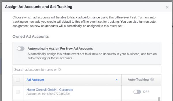 Schritt 3: Offline Event Sets im Business Manager erstellen