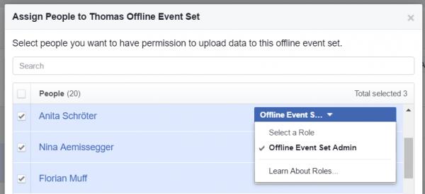 Schritt 4: Offline Event Sets im Business Manager erstellen