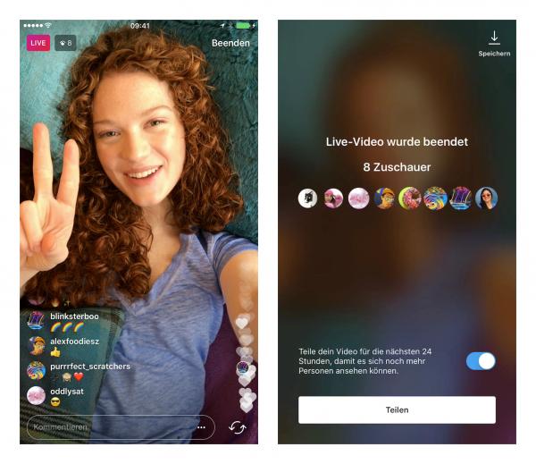 Instagram Live in Stories (Quelle: Instagram)