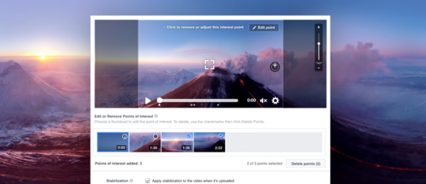 Einfachere Nachbearbeitung bei 360°-Live-Videos (Quelle: Facebook)