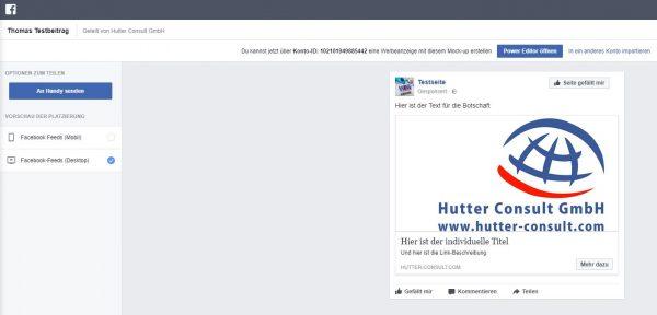 Workaround im Creative Hub - Anzeige in Power Editor exportieren