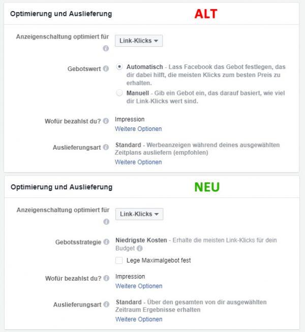 """Die Gegenüberstellung der """"alten"""" und """"neuen"""" Darstellung"""
