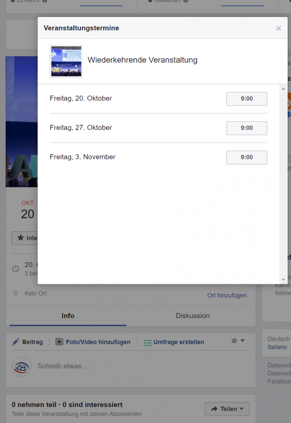 FB Events (Quelle: Facebook)