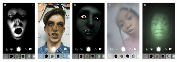 Neue Helloween Face Filter (Quelle: Instagram)