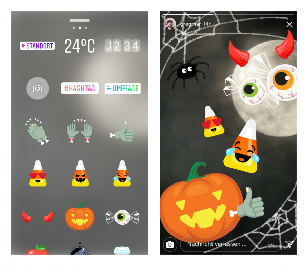 Neue Helloween Sticker (Quelle: Instagram)